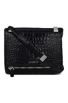 GIVENCHY Croc-stamped Pandora satchel