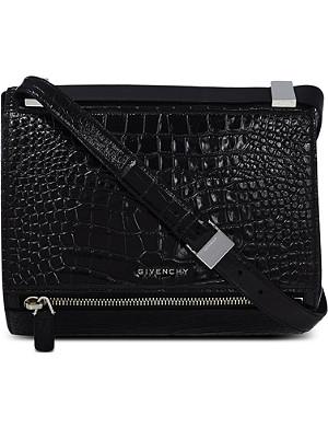 GIVENCHY Croc-stamped Pandora satchel
