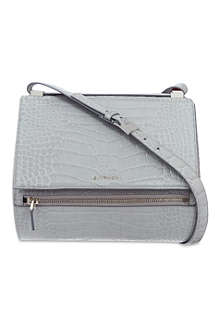 GIVENCHY Pandora croc box satchel