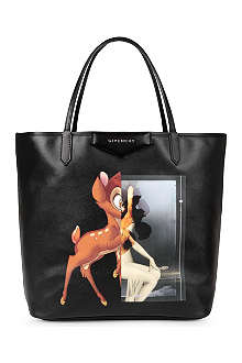 GIVENCHY Antigona medium Bambi-print leather shopper
