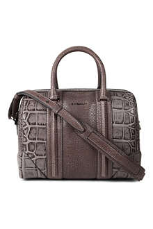 GIVENCHY Lucrezia medium animal-embossed leather bowling bag