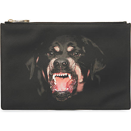 GIVENCHY Medium rottweiler leather pouch (Multi