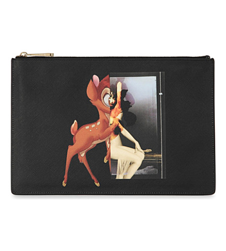GIVENCHY Antigona Bambi medium coated-canvas pouch (Multi
