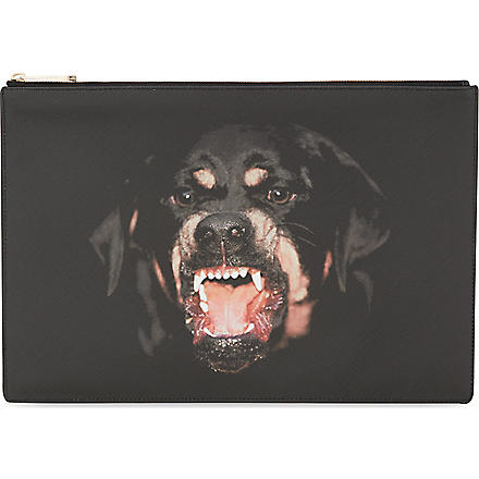 GIVENCHY Large Rottweiler leather pouch (Multi