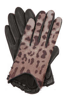 GIVENCHY Leopard-print gloves