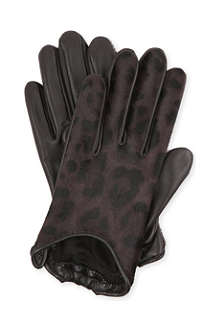 GIVENCHY Leopard-print leather gloves
