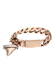 GIVENCHY Rose gold shark tooth chain bracelet