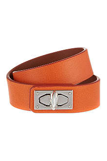 GIVENCHY Two-row shark lock calfskin cuff