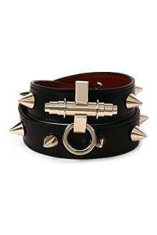 GIVENCHY Obsedia leather wrap bracelet
