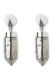 GIVENCHY Pyrite brass magnetic earrings