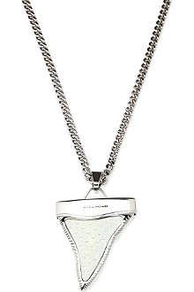 GIVENCHY Python shark tooth pendant necklace
