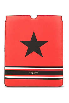 GIVENCHY Stars and stripes-print leather iPad case