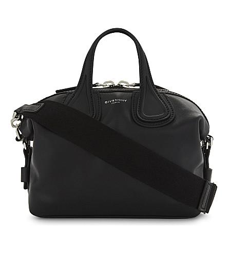GIVENCHY New Nightingale mini leather shoulder bag (Black