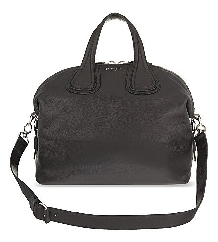 GIVENCHY Nightingale medium leather shoulder bag (Black