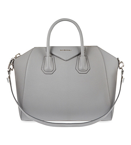 GIVENCHY Antigona sugar medium soft-grained leather tote (Pearl grey