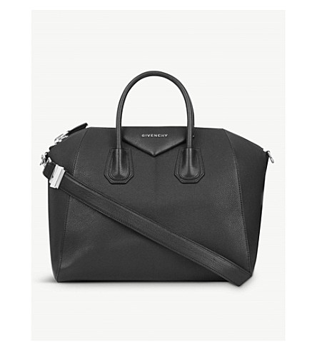 GIVENCHY Antigona Sugar medium soft-grained leather tote (Black