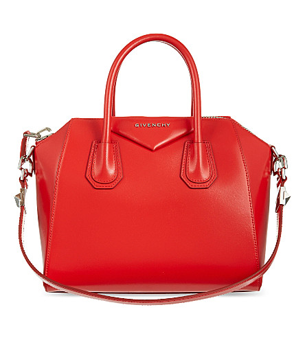 GIVENCHY Antigona small leather tote (Med red