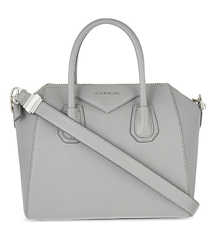 GIVENCHY Antigona sugar small soft-grained leather tote (Pearl+grey
