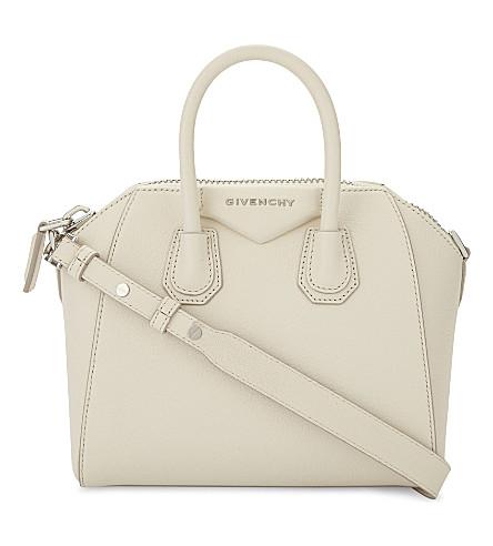 GIVENCHY Antigona small leather handbag (Off+white