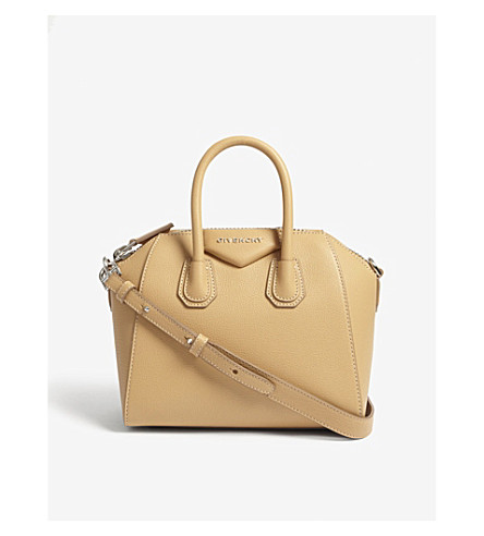 GIVENCHY Mini Antigona Sugar leather tote (Light+beige