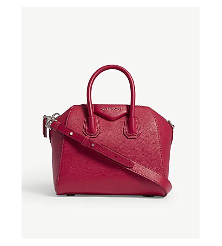GIVENCHY Antigona mini grained leather tote bag (Fuschia