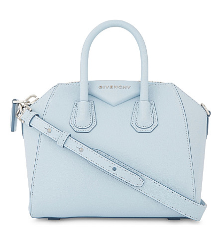 GIVENCHY Antigona mini leather tote (Baby+blue