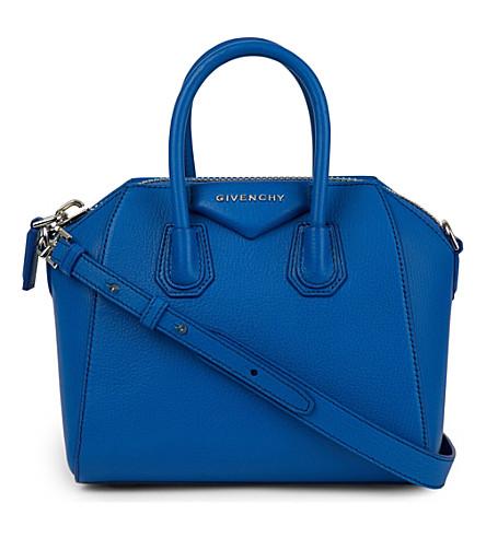 GIVENCHY Antigona mini leather tote (Indigo blue