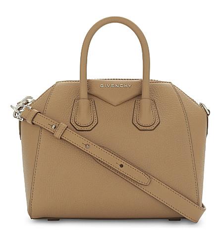 GIVENCHY Antigona mini leather tote (Medium beige