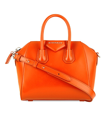 GIVENCHY Antigona mini leather cross-body bag (Orange+fluo