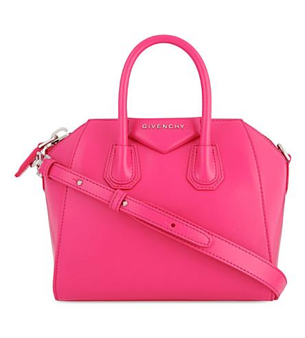 GIVENCHY Antigona mini leather cross-body bag (Shocking+pink
