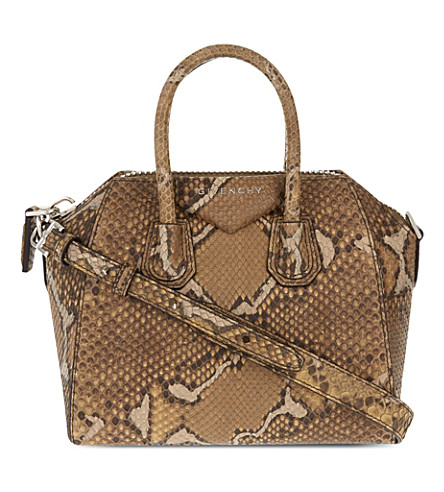 GIVENCHY Antigona mini python tote (Olive+green