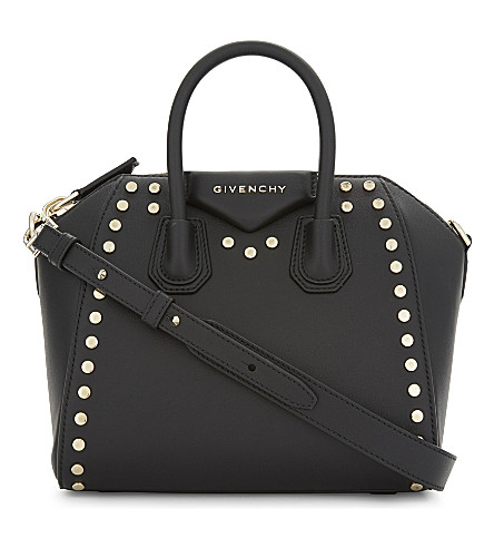 GIVENCHY Antigona flat studs leather tote (Blk+gold