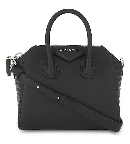 GIVENCHY Antigona mini leather tote (Black
