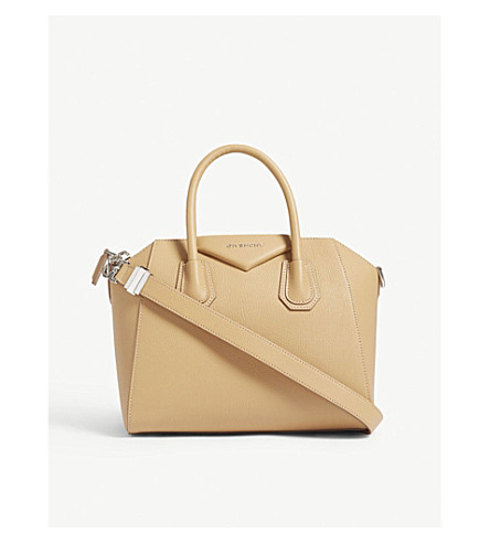 GIVENCHY Antigona small sugar leather tote (Light+beige