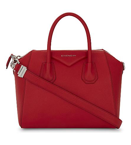GIVENCHY Antigona sugar leather tote (Medium red