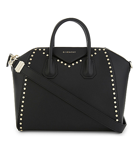 GIVENCHY Antigona leather shoulder bag (Blk+gold