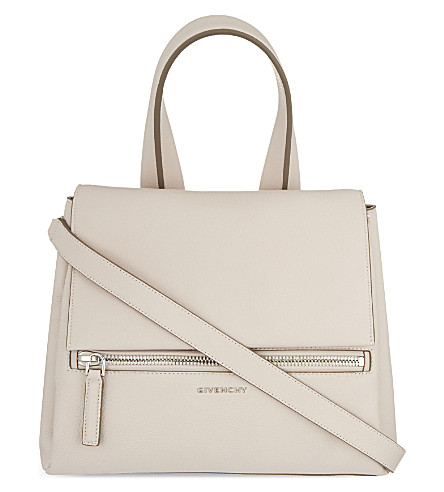 GIVENCHY Pandora medium leather shoulder bag (Nude