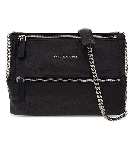 GIVENCHY Pandora mini leather shoulder bag (Black