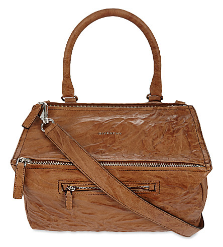 GIVENCHY Pandora medium leather shoulder bag (Caramel