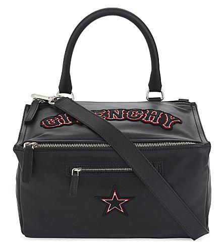 GIVENCHY Pandora medium leather shoulder bag (Black
