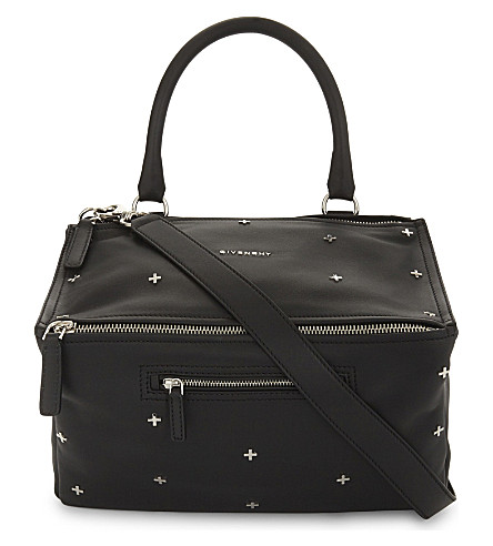 GIVENCHY Pandora Sugar cross medium leather shoulder bag (Black