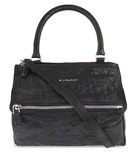 GIVENCHY Pandora small washed leather shoulder bag (Black