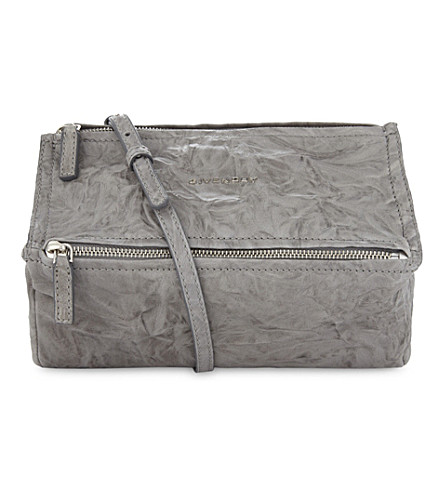 GIVENCHY Pandora leather cross-body bag (Pearl+grey