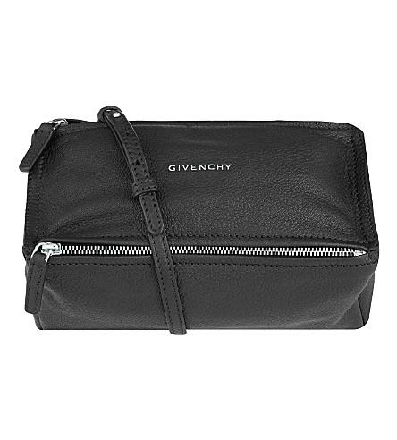 GIVENCHY Pandora Sugar leather shoulder bag (Black