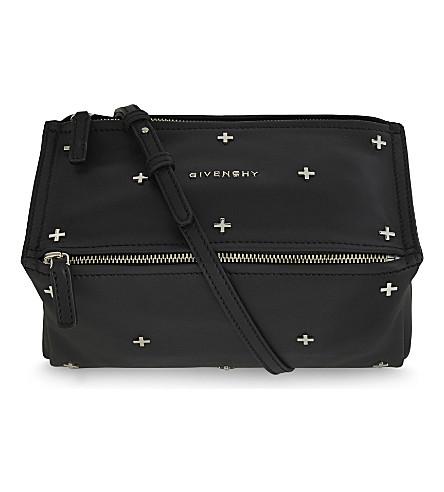 GIVENCHY Pandora cross mini leather shoulder bag (Black