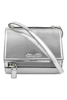 GIVENCHY Pandora box mirrored leather bag
