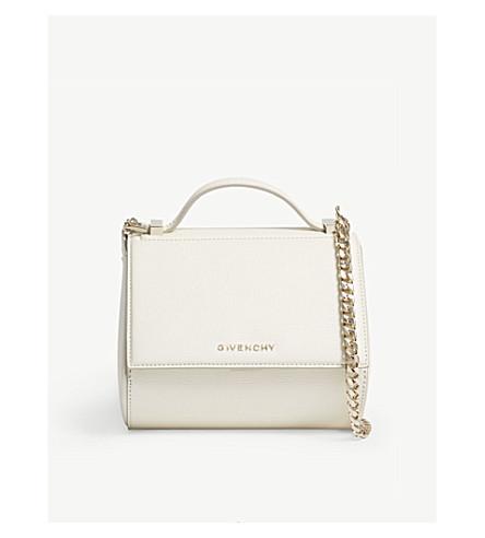 GIVENCHY Pandora Box mini chain cross-body bag (Off+white