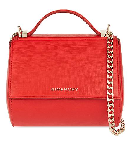 GIVENCHY Pandora mini leather shoulder bag (Medium red