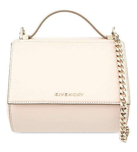 GIVENCHY Pandora mini leather shoulder bag (Nude