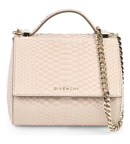 GIVENCHY Pandora python-leather box bag (Nude
